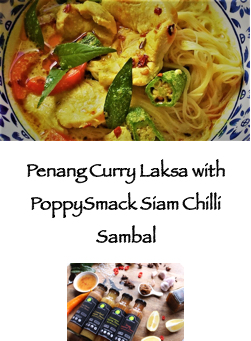 Curry laksa with PoppySmack sauces