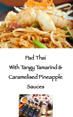 PoppySmack pad thai with Tangy Tamarind & Caramelised pineapple sauces
