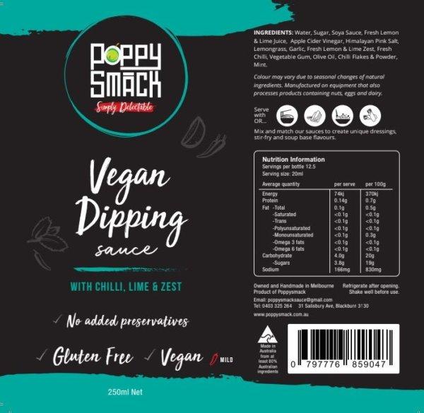 Vegan Dipping Sauce all-natural ingredient list